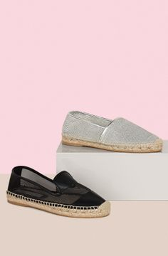 Our Cameron and Tasha Espadrilles featuring biodegradable rubber soles.