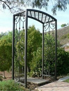 Pergola For Small Backyard Metal Arbor, Metal Pergola, Wooden Pergola, Iron Pergola, Garden Arbor, Garden Trellis, Garden Gates, Diy Pergola, Outdoor Pergola