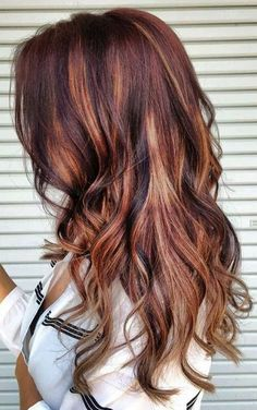 eye-catching highlights for autumn #waves #curls