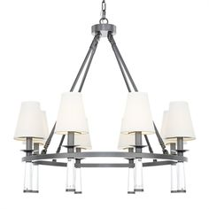 Crystorama Lighting 8867-OR Baxter 8 Light Chandelier #home decor sale & deals Finish:Oil Rubbed Bronze, Light Bulb:(8)60w B10 Cand C Incand Introducing Baxter, the transitional chandelier with an out-of-this-world shades. The Ba...