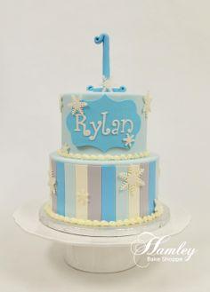Winter Onederland Cake  www.hamleybakeshoppe.com