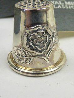 Hallmarked Sterling Silver English Rose Thimble | eBay /  Jun 23, 2014 / GBP 10.50 / 615.96 RUB