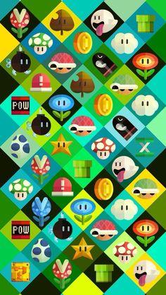 Mario theme wallpaper