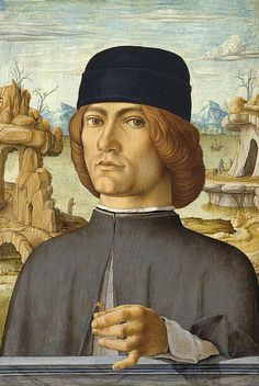 Portrait Of A Man With A Ring Painting by Francesco del Cossa