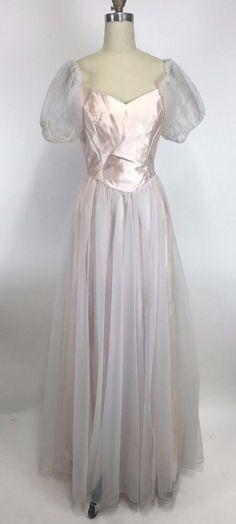 Vintage 80's Pink Party Prom Dress Poof Tulle Princess Barbie Glenda M Medium #DanceAllure #BallGown #Formal