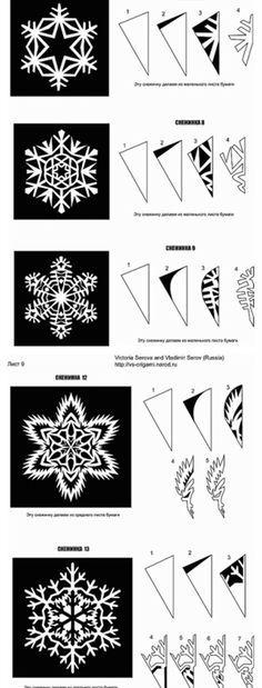 Modèles et patrons pour carte de voeux en papier découpé - tissu rouge écru Paper Snowflakes, Christmas Snowflakes, Christmas Diy, Snowflake Template, Seasonal Celebration, Holiday Crafts For Kids, Handmade Decorations, Kirigami, Decoration Noel