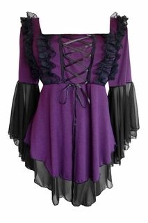 Fairy Tale Corset Top in Purple - You're sure to live happily ever after in our Fairy Tale top! www.Figuresque.com