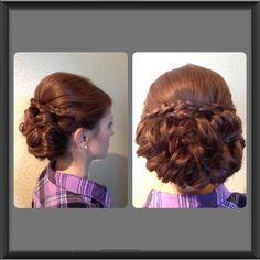 Bridesmaid braided updo
