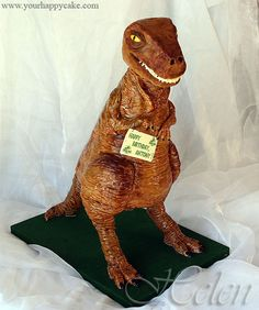 how to make a 3d standing dinosaur cake