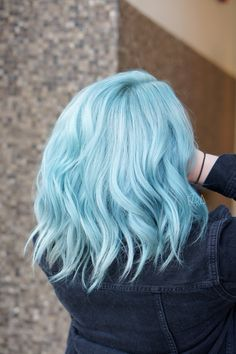 14 Pastel Hair Colors That Will Make You Consider Dying Your Hair - Pastel Hair. - 14 Pastel Hair Colors That Will Make You Consider Dying Your Hair - Hair Dye Colors, Hair Color Blue, Cool Hair Color, Icy Blue Hair, Pastel Hair Colors, Short Blue Hair, Short Pastel Hair, Mint Pastel Hair, Light Colored Hair