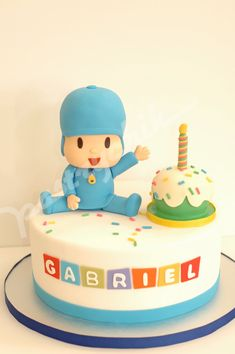 Last year, I was given the opportunity to make Gabriel's baptismal cake. Now he turns 1 and his is wonderful mom, Katrina, decided on Pocoy...