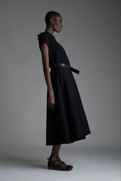 Vintage Y's Yohji Yamamoto Dress. Designer Clothing Dark Minimal Street Style Fashion