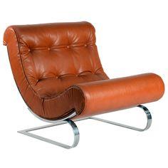 "Mid-Century Modern Freak Early ""Balestra"" Lounge Chair by Cinova Deco Furniture, Vintage Furniture, Cool Furniture, Furniture Design, Armchairs For Sale, Leather Lounge, Vintage Chairs, Mid Century Furniture, Sofa Chair"