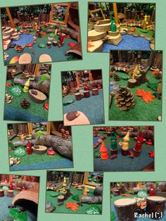 """BC Language Arts Oral Language Woodland Small World Play. from Rachel ("""",) Eyfs Activities, Autumn Activities, Reggio Emilia, Autumn Eyfs, Role Play Areas, Small World Play, Inspired Learning, School Displays, Art Corner"""