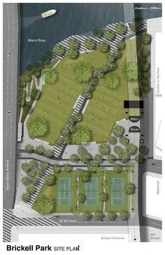 Brickell Park Site Plan
