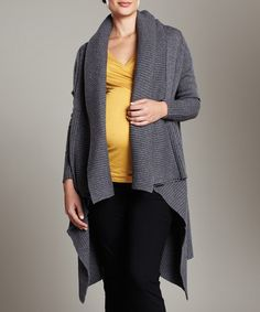 Save Now on this Maternal America Charcoal Maternity Duster by Made in the USA: Maternity Apparel on #zulily today!
