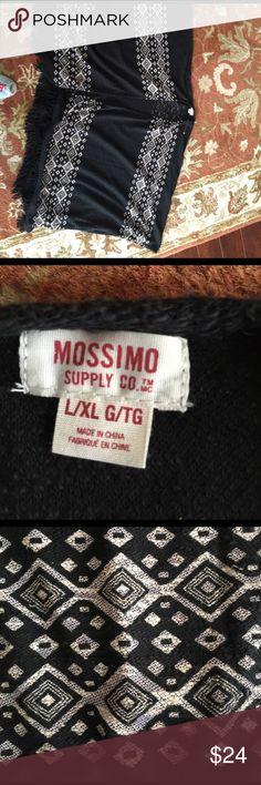 Boho mission poncho nwot!! Mission large pinch with fringe nwot!!! Mossimo Supply Co Jackets & Coats Vests