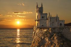 Pingo World 'Swallow's Nest Castle Black Sea' Photographic Print on Wrapped Canvas Size: H x W x D Beautiful Castles, Beautiful Places, Places Around The World, Around The Worlds, Share Pictures, Black Castle, Tunnel Of Love, Landscaping Images, City Aesthetic