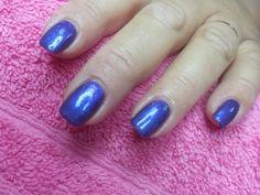 CND Shellac Purple Purple with Periwinkle Twinkle glitter!