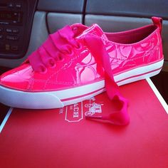Pink Coach Shoes...Yes Please :)