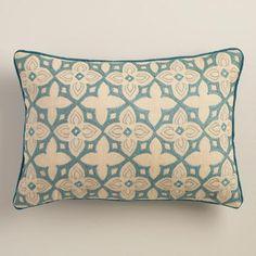 30 One of my favorite discoveries at WorldMarket.com: Aqua Tile Lumbar Pillow