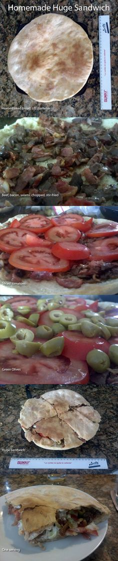How to make a huge lunch sandwich at home