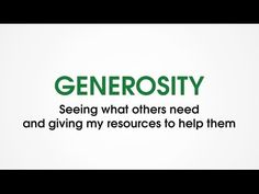 """GENEROSITY is seeing what others need and giving my resources to help them. The opposite of GENEROSITY is HOARDING, keeping resources all to myself.   GENEROSITY is the second character trait in the set called """"Love with Peace"""".  For all 36 character traits in Character Trades, visit www.CharacterTrades.com.  Character Trades uses the fun and excitement of games to help kids develop good character!  PURCHASE GAMES and learn more at: www.CharacterTrades.com"""