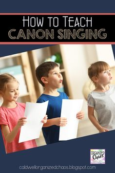 One of the first steps in learning part-singing is through canons/rounds. As an elementary music teacher, I love teaching students how to sing in canon- their faces just light up when they are first able to sing in two different parts without my help!! Here is a step-by-step walk through of the teaching process I use to get elementary students singing canons for the first time. Elementary Choir, Elementary Music Lessons, Music Lessons For Kids, Kindergarten Lessons, Teaching Music, Student Teaching, Behavior Management, Classroom Management, Classroom Setup