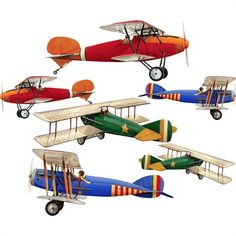 Large Planes Wall Stickers