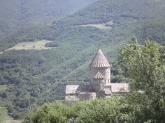Tatev Monastery, view from the longest funicular way in Europe.