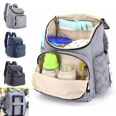 "IPReeâ""¢ Travel Backpack Mummy Maternity Baby Diaper Bag Nappy Organizer Nursing Pouch"