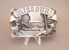 Vintage Missouri Belt Buckle By Siskiyou Buckle Co Vintage Belt Buckles, Missouri, Wallet, Store, Ebay, Larger, Purses, Diy Wallet, Shop