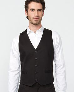 5-Button Double Well Vest