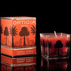 DATCHA - ORTIGIA 'Coral Shell' Square Candle
