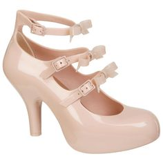 Vivienne Westwood for Melissa Women's 3 Strap Elevated Bow Heels