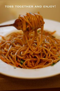 Spicy Thai Noodles...use less oil and almonds instead of peanuts.
