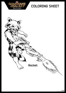 guardians of the galaxy coloring pages {and activity kit