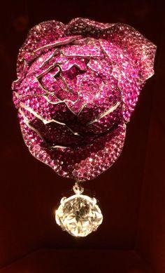 Rose Brooch by JAR ~ ruby, sapphire, spinel, diamond, silver, gold, 2013. Kremkow photo.