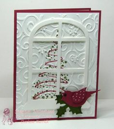 Christmas window card