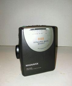 Magnavox Walkman Stereo Radio Cassette Player AQ 6560/17 Bass Boost No Headphone #Magnavox