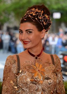 Giovanna Battaglia at the Met Gala 2013.