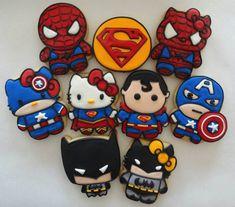 Superheroes & Hello Kitty cookies // Galletas de superheroes y Hello Kitty