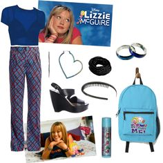 Created the set Nostalgia Disney Channel Shows, Lizzie Mcguire, Early 2000s, Hilary Duff, The Duff, Nostalgia, Tv Shows, Style Inspiration, Inspired