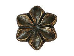 4 Brass Star Flower Metal Shank Buttons 11/16 inch by ButtonJones, $3.20
