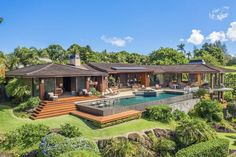Mansion Global, Hanalei Bay, Hawaii Homes, Hawaii Life, Outdoor Living Areas, Plantation, Home And Family, Family Homes, Luxury Real Estate