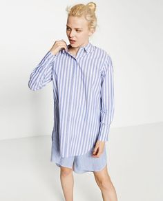 Image 2 of LONG STRIPED SHIRT from Zara