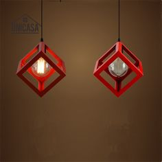 6439 watch here country industrial design redwhite vintage pendant lights red shade fixture wrought iron lighting kitchen island bar office hotel antique mini mozeypictures Image collections