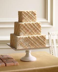 Elegant Embroidery Cake for Martha Stewart Weddings, by Wendy Kromer