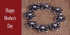 Celebrate Mother's Day with this flower bracelet in silver. Crafted in Peru. Has safe trigger clase style