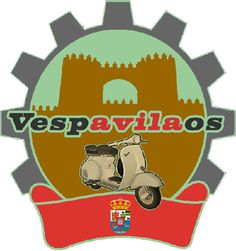"""Vespavilaos Club - Ávila (Spain) - A dozen of bike lovers 'legend' organized between past May 24th and 26th 2013 the first """"Vespavilada"""" with hundred of #Vespa #scooters from all over #Spain. Different #colors, #modern and #vintage, original and #tuned, from Friday to Sunday, along a route of 120 km with final stop in Burgohondo."""